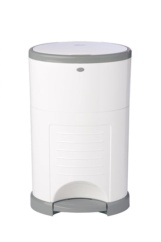 Hands-Free Diaper Pail - White