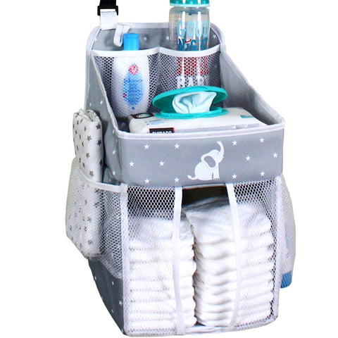 Hanging Diaper Caddy - Gray