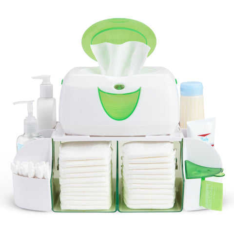 Diaper Duty Organizer - Green/White