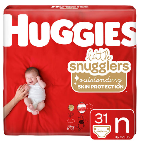 Huggies Little Snugglers Baby Diapers - Size Newborn