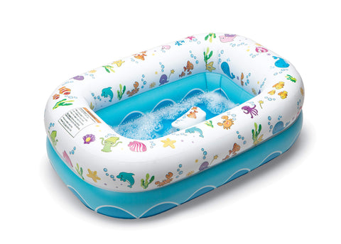 Inflatable Bathtub for Baby & Toddler - Ocean Design