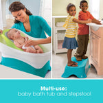 Elevated Baby Bath - With Stepstool/Kneeler