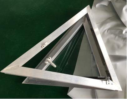 Opening Triangle Glass Window
