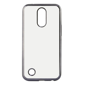 Mobile cover Lg K8 2017 Contact Flex Metal TPU Transparent Grey Metallic   -   NORDBEC SWEDEN