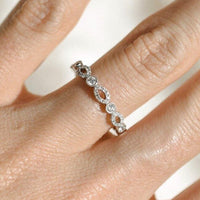 Diamond Anniversary Band in 14k White Gold