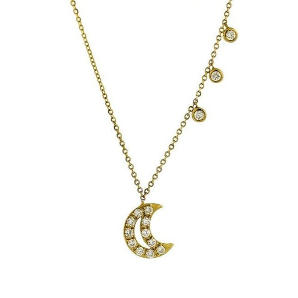Diamond Crescent Moon Necklace (Available for Pre-Order)