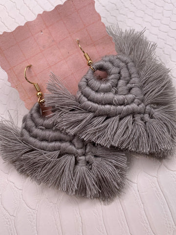 Smokey Grey Earrings