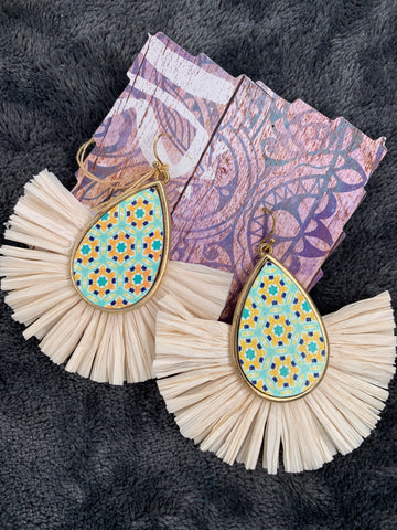 White Paper Mâché Earrings