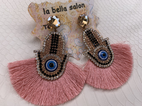 Hamsa Eye Earrings