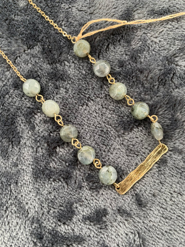Grey Marble Necklace