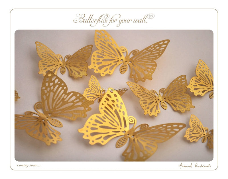 Metallic Butterflies for your wall…