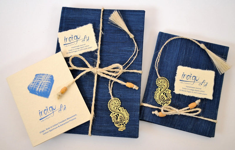 Journals in Indigo – dyed cotton