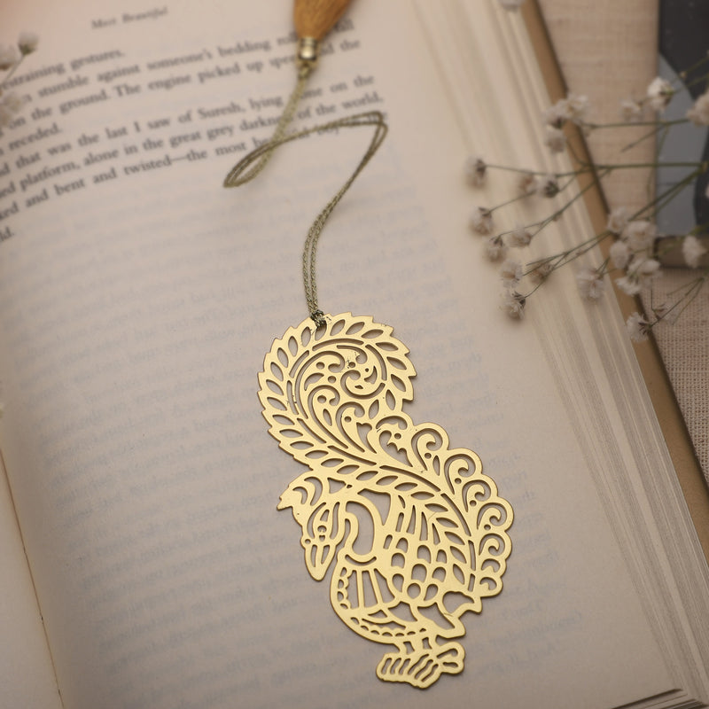 Bookmark Peacock Paisely