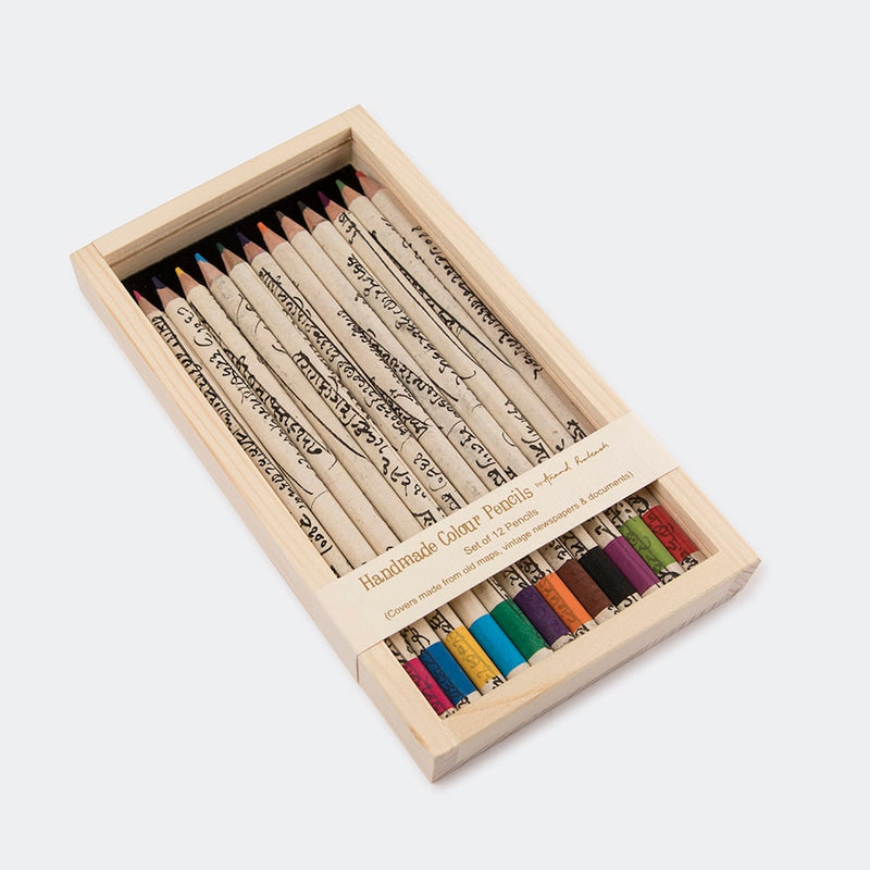 Colour Pencils - Vintage Docs. Box of 12