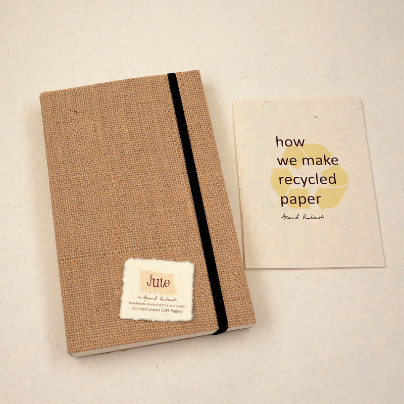 Jute Travel Journal - With Elastic Closure