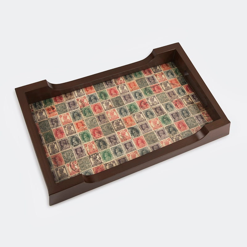 Teak Wood Serving Tray - British Stamp