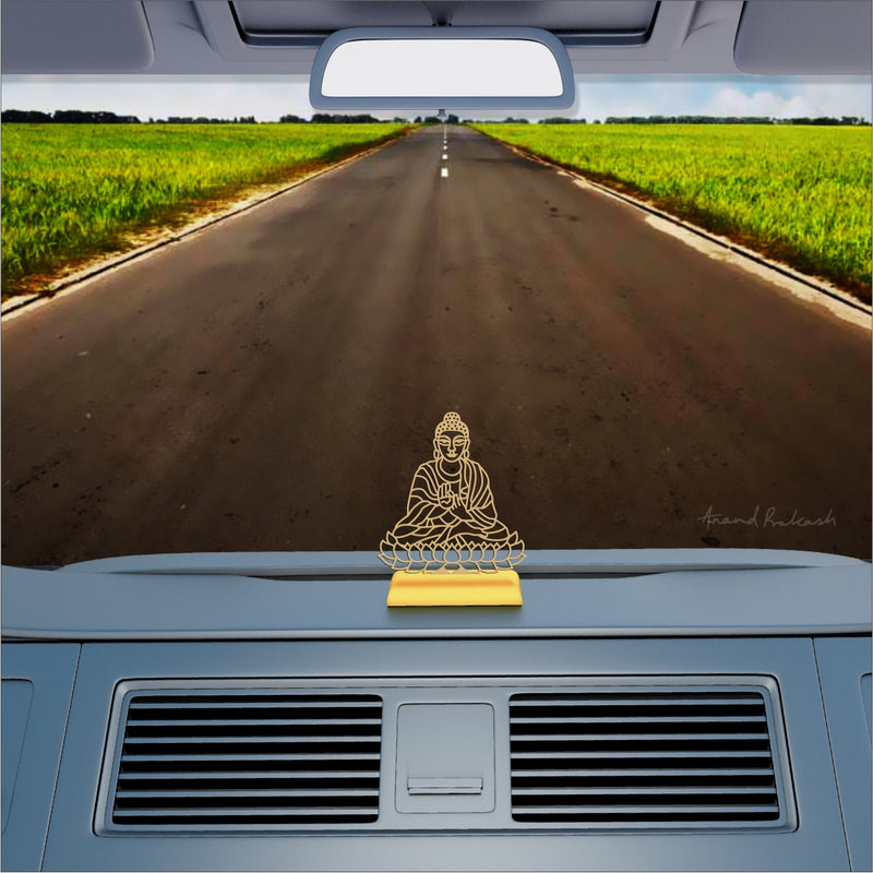 Car Dashboard Stand Goldplated - Buddha