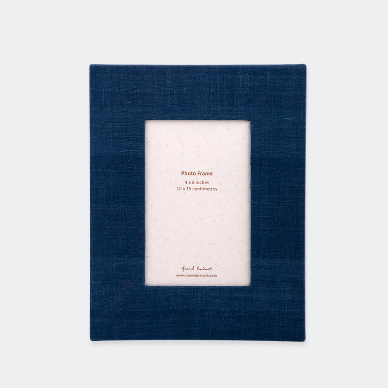 Fabric Photo Frame Indigo
