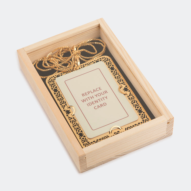 ID Card Holder Goldplated