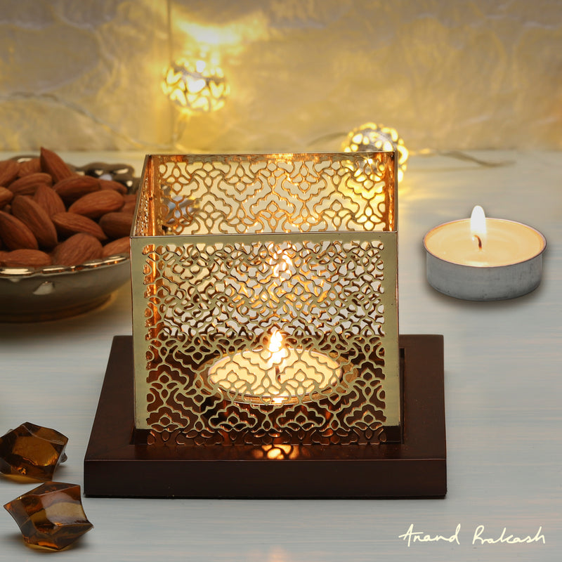 Tea Light Holder Square - TM
