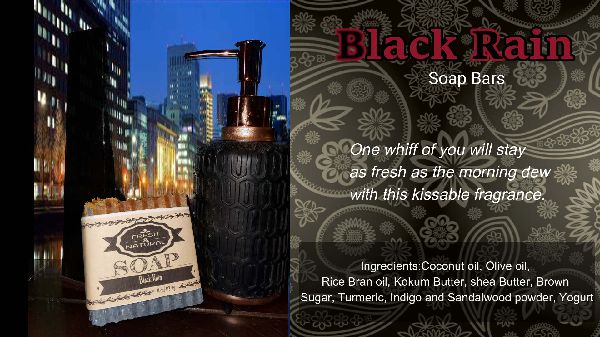 Black Rain Men's Soap Bar