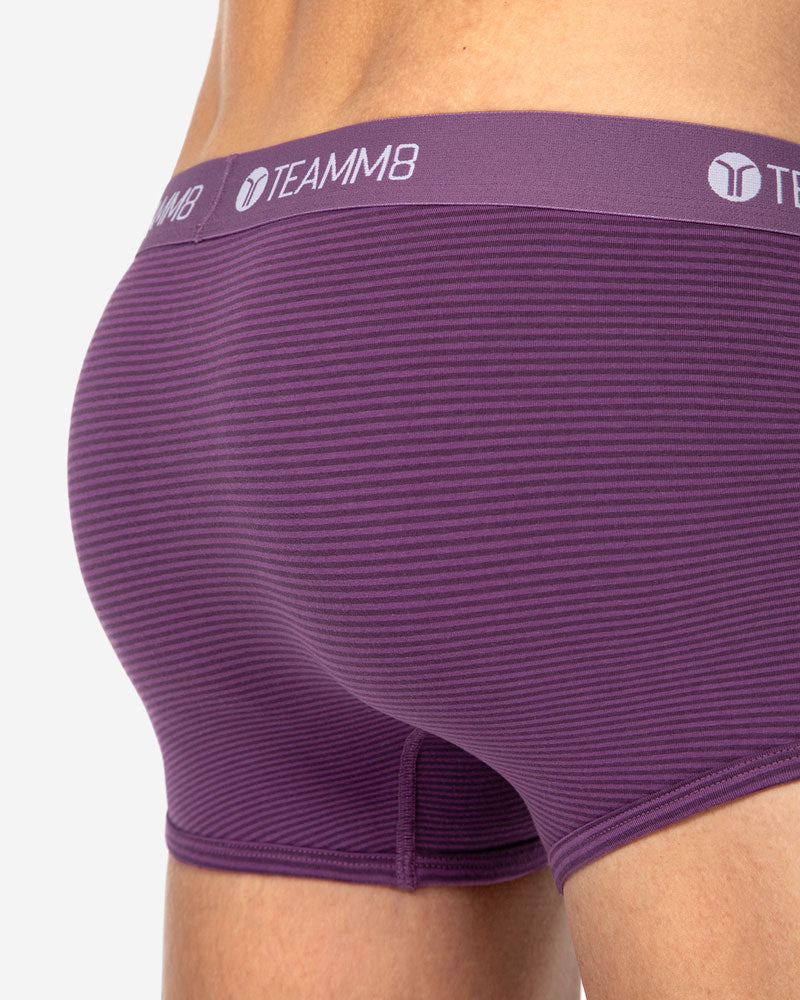 Super Low Stripe Boxer Brief – Plum