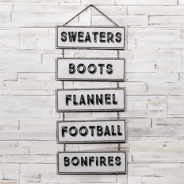 All Things Fall Stacked Hanging Sign