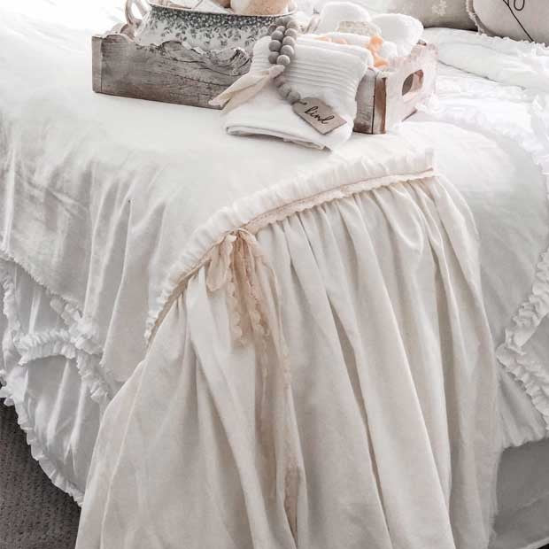Beautiful Bed Scarf With Lace