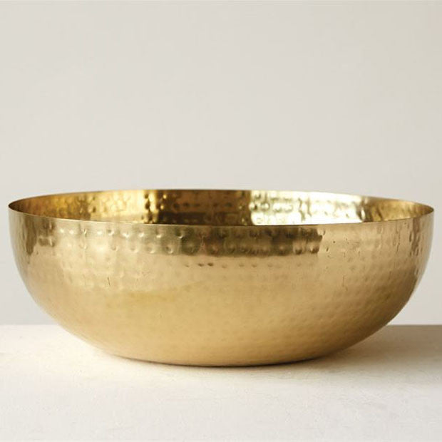 Brass Finished Metal Bowl