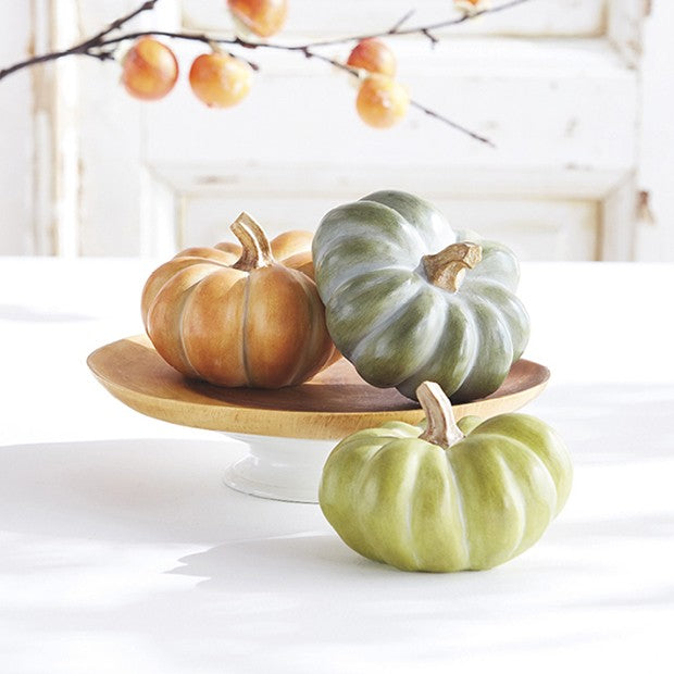 Traditional Harvest Pumpkin, Set of 3