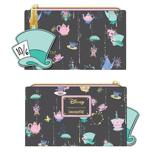 (June Catalog Pre-Order) Alice in Wonderland a Very Merry Unbirthday to You Loungefly Wallet