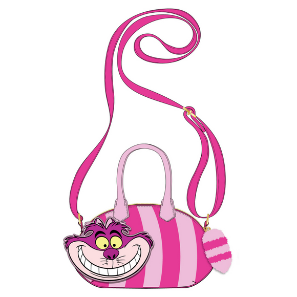 (June Catalog Pre-Order) Alice in Wonderland Cheshire Cat Loungefly Crossbody