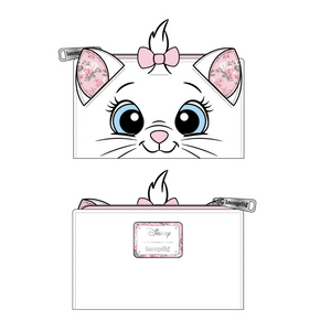 (June Catalog Pre-Order) Aristocats Marie Floral Face Loungefly Wallet