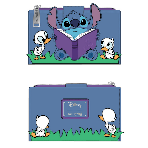 (June Catalog Pre-Order) Lilo and Stitch Story Time Duckies Loungefly Wallet