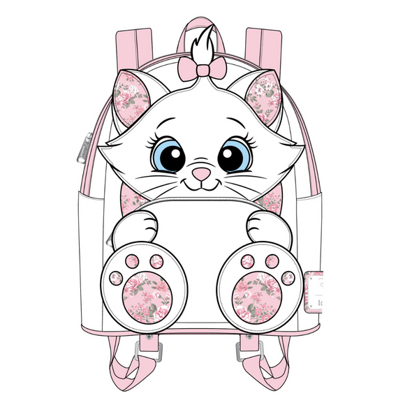(June Catalog Pre-Order) Aristocats Marie Floral Footsy Loungefly Mini Backpack