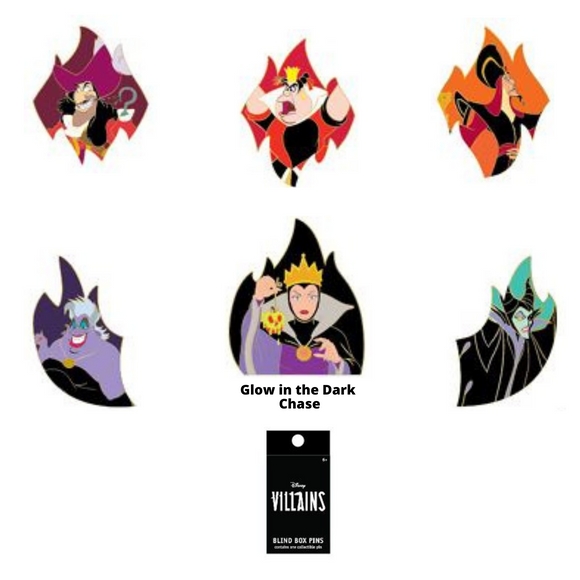 (May Catalog Pre-Order) Disney Villains Flames Blind Box Loungefly Pin