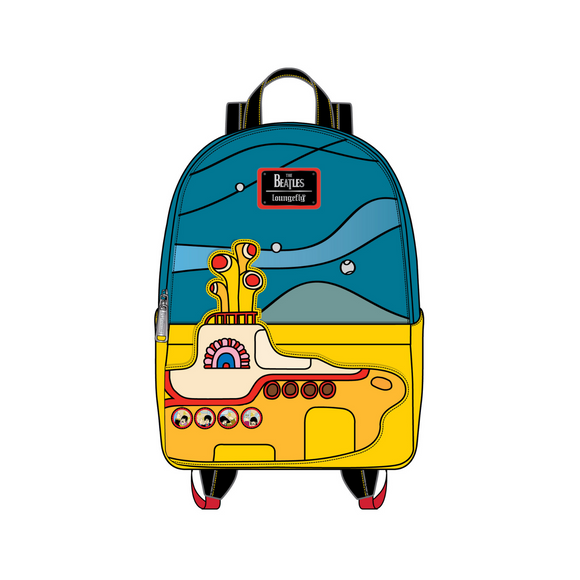 (April Catalog Pre-Order) The Beatles Yellow Submarine Loungefly Mini Backpack