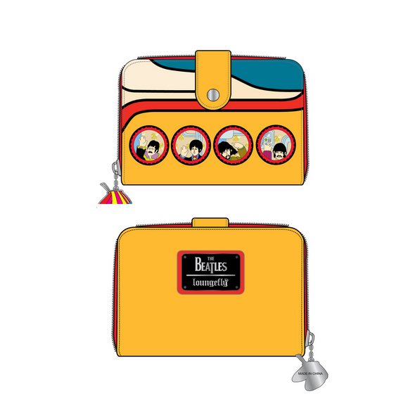 (April Catalog Pre-Order) The Beatles Yellow Submarine Loungefly Wallet