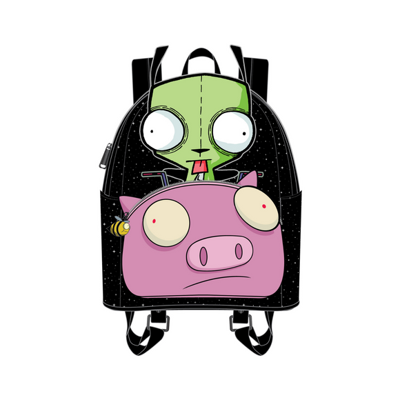 (April Catalog Pre-Order) Invader Zim Gir Pig Doom Loungefly Mini Backpack