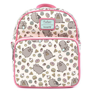 Pusheen Snackies AOP Convertible Loungefly Mini Backpack