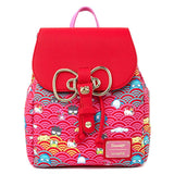 Sanrio 60th Anniversary Gold Bow AOP Loungefly Mini Backpack