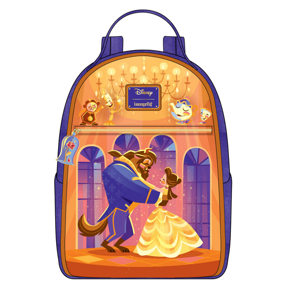 (May Catalog Pre-Order) Beauty and the Beast Ballroom Scene Loungefly Mini Backpack