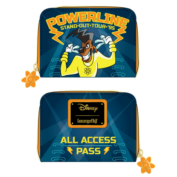 (May Catalog Pre-Order) Goofy Movie Powerline All Access Pass Loungefly Wallet