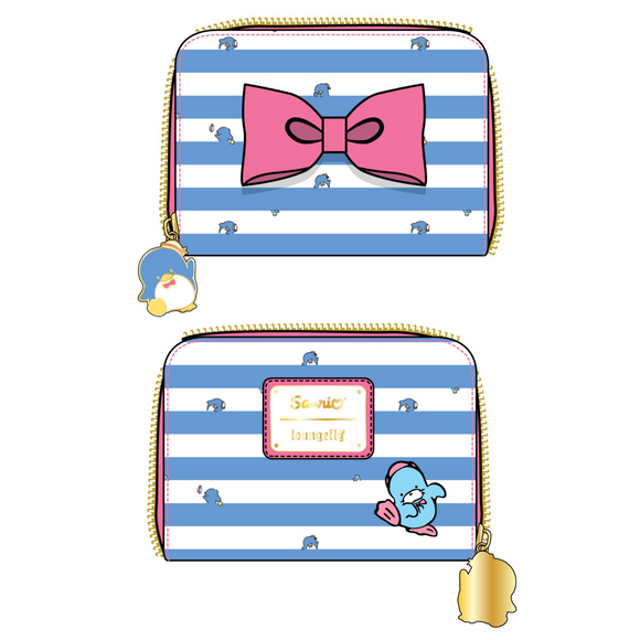 (May Catalog Pre-Order) Sanrio Tuxedo Sam Striped Loungefly Wallet