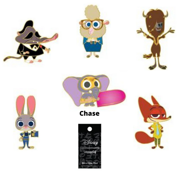 (May Catalog Pre-Order) Zootopia Blind Box Loungefly Pin