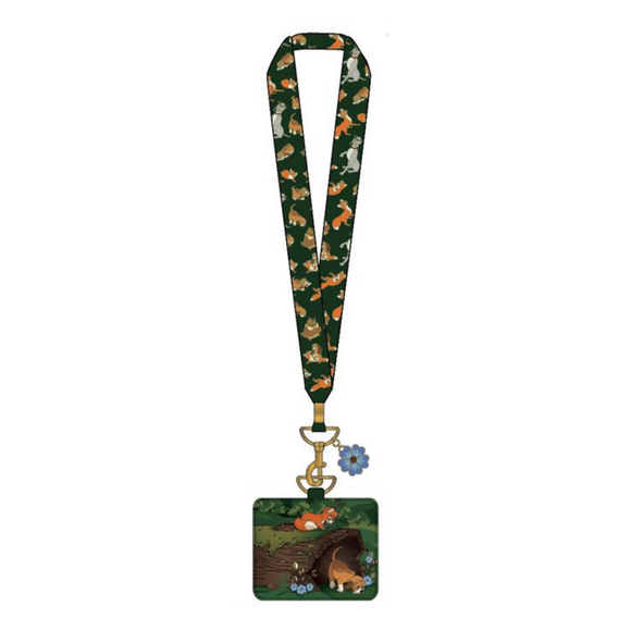 (April Catalog Pre-Order) Disney Fox and the Hound Log Lanyard with Cardholder