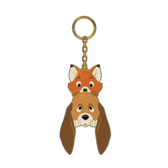 (April Catalog Pre-Order) Disney Fox and the Hound Copper and Todd Loungefly Keychain