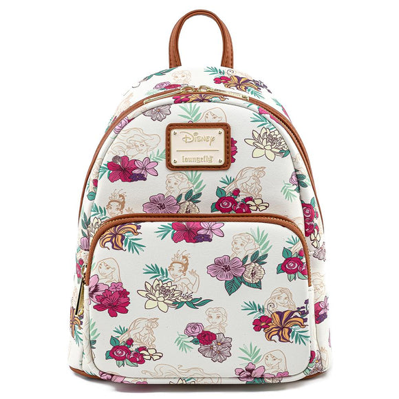 Disney Princess Floral AOP Loungefly Mini Backpack