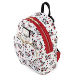 Mickey and Minnie Heart AOP Loungefly Mini Backpack