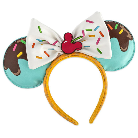 Minnie Mouse Ice Cream Loungefly Ear Headband